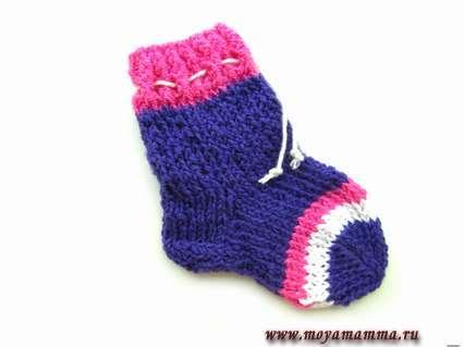 передняя часть носочка, где будут пальчики