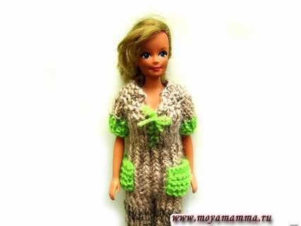 Комбинезон с карманами для куклы Барби