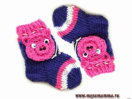 Детские носки символ года поросенок