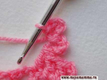 Вязание лепесточков цветочка крючком