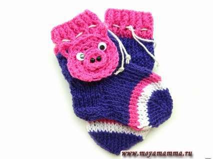 Детские носки с поросенком