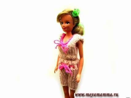 Как связать летний наряд для куклы Барби