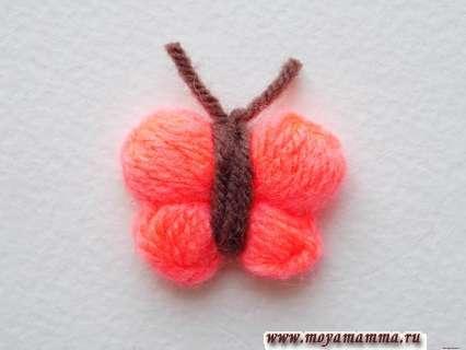 Оформление усиков для бабочки