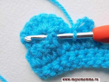 Вязание крючком объемной тесьмы