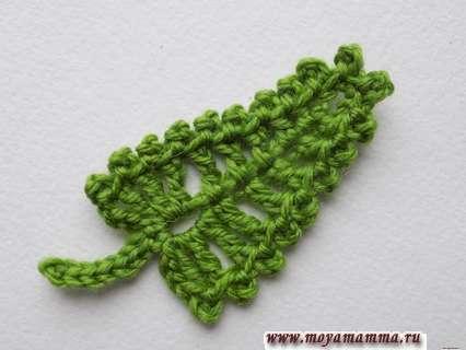 Вязание листьев крючком