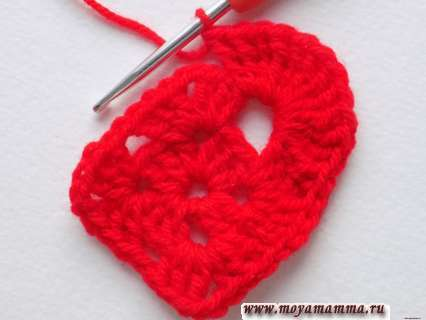 Вязание сердечка крючком