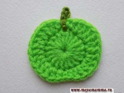 Яблоко крючком