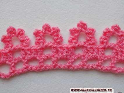 цветочная кайма, связанная крючком