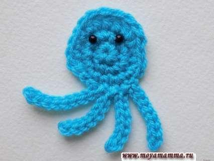 осьминог связанный крючком