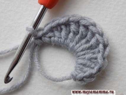 вязание ушка
