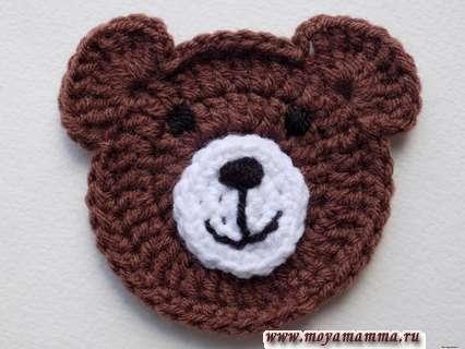 добавить глазки нашему медвежонку