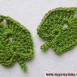 Как связать крючком листочек липы