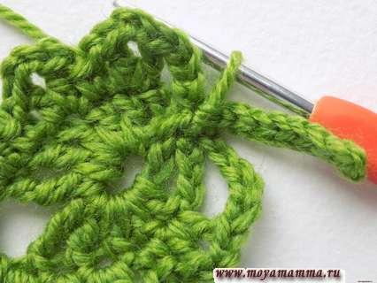 закрепляем вязание