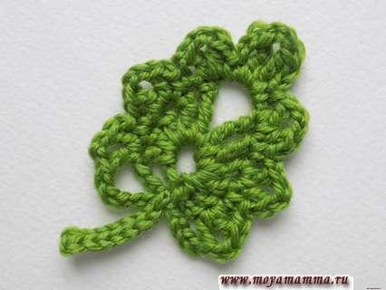 Как связать ажурный листочек