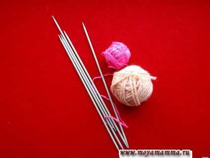 Материалы и инструменты для вязания летнего наряда для куклы