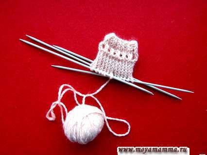 Вязание ажурного ряда для шнурка