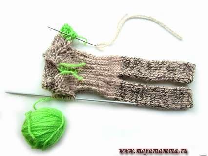 Вязание рукавов комбинезона