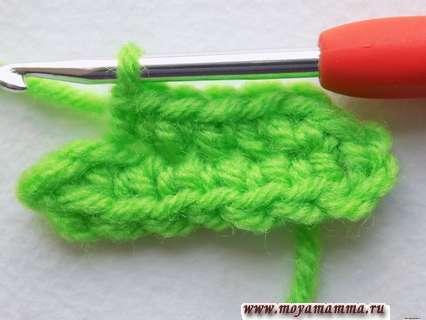 поворачиваем вязание листочка