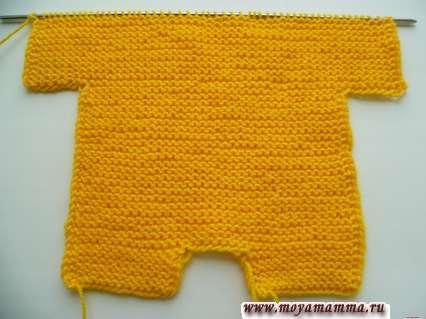 Комбинезон платочной вязкой для Басика
