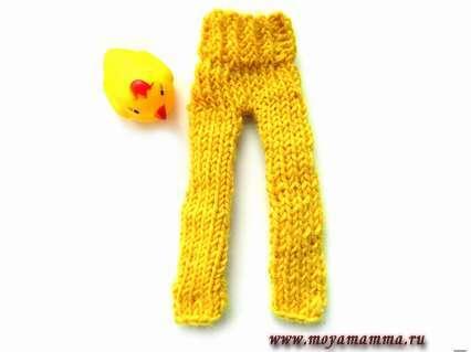 Штаны для Барби на спицах