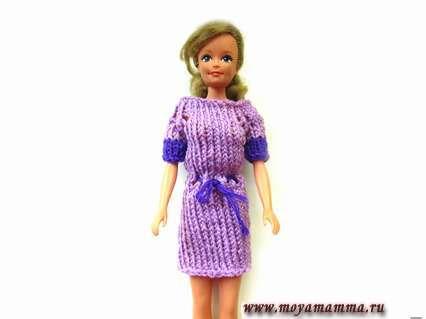 Платье для куклы Барби на пяти спицах