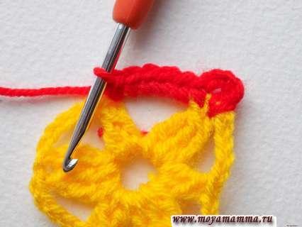 обвязать желтые арки