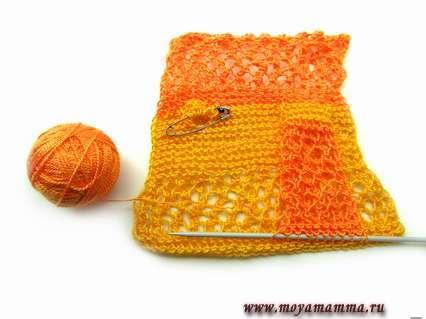 Вязание рукава ажурной кофточки