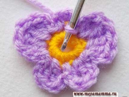 вязание лепестка