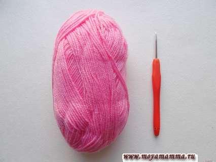 пряжа розового цвета
