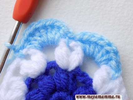 Вязание крючком круглого мотива. Вяжем по кругу