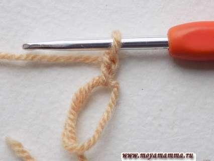 создание скользящей петли и закрепление на ней двух возд. петелек