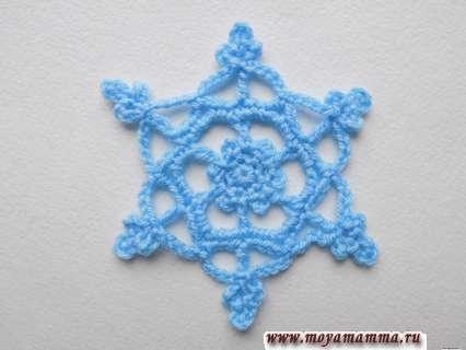 красивая снежинка крючком