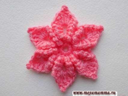 Как связать крючком цветок с витыми лепестками