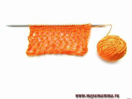 Вязание ажурной вязкой кофты