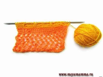 Платочное вязание для кофты