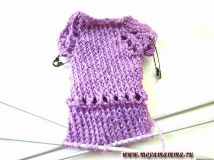 Вязание платья в длину