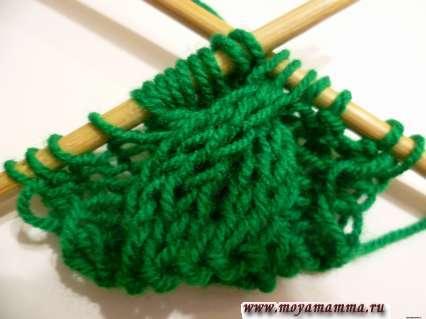 вязание большой косы из 12 петель