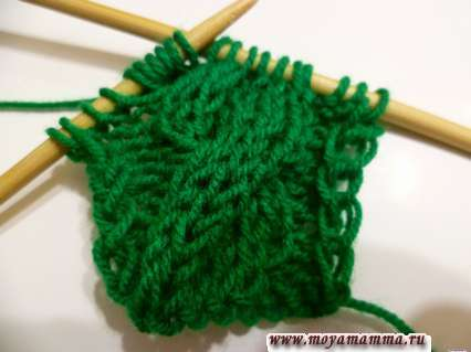 вязание косы для пуловера