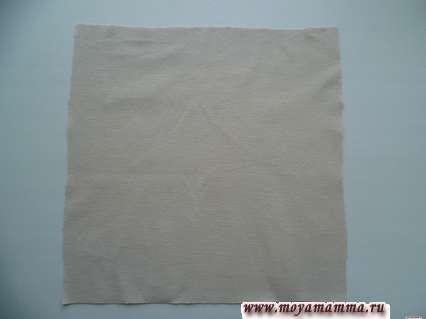 заготовка из ткани для юбки без шитья