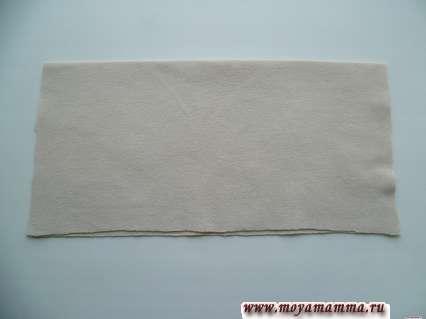 квадрат из ткани , сложенный в два слоя
