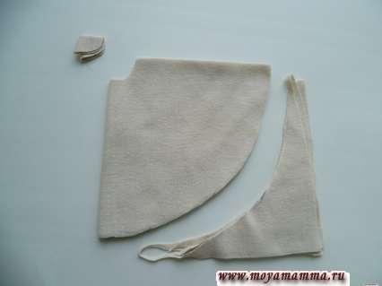 Выкраивание юбки без шитья