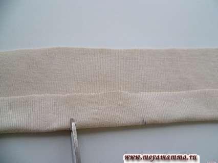 Изготовление пройм кофточки без шитья