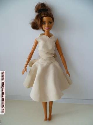 Юбка без шитья для куклы барби