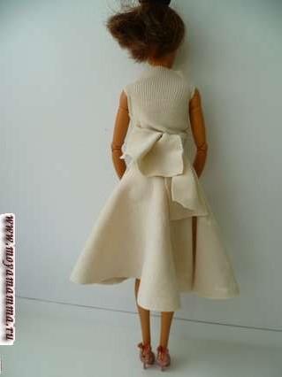 кофточка на завязках для куклы