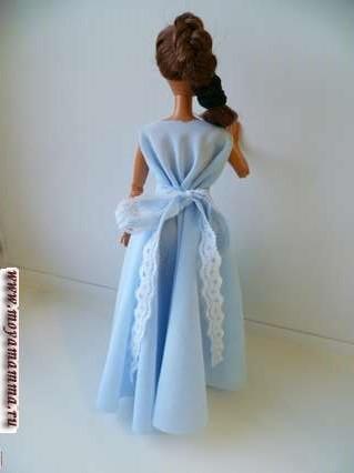 Вечернее платье для барби без шитья