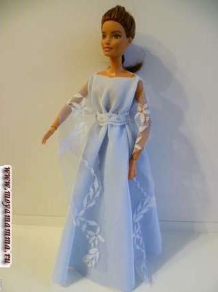 платье без шитья для бараби с кружевным палантином