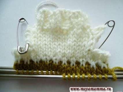 вязание свитера для барби на пяти спицах