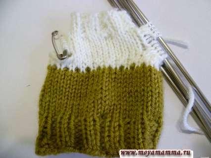 набор и распределение петель для вязания рукава