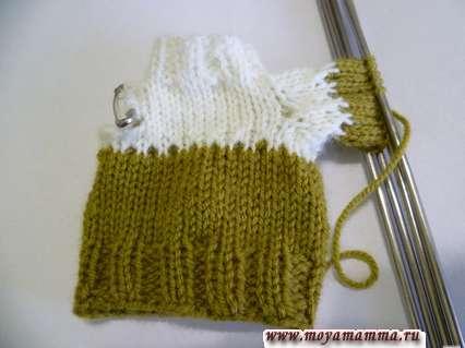 вязание рукава свитера