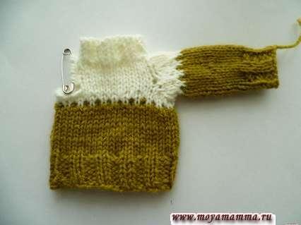 свитер с одним рукавом спицами